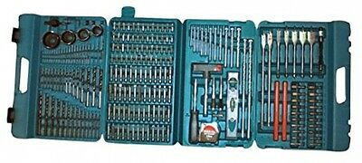 NEW Large Drill Bit Set Complete Flat Masonry Hex Square Tools Selection DIY