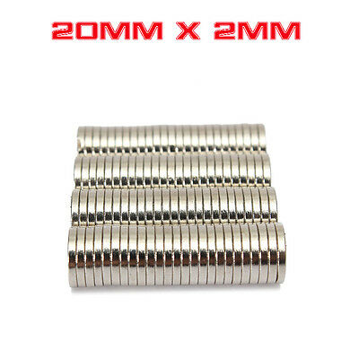 Strong Round Cylinder Magnet 20mm x 2mm Rare Earth Neodymium N728