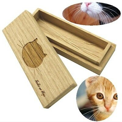 Cat Whiskers Case - Wooden box for storing pet hair, from Japan A789