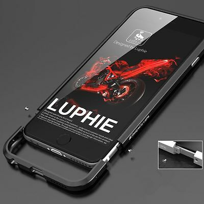 LUPHIE Aluminum Metal Bumper Frame Shockproof Case Cover For iPhone 6 6S 7 Plus
