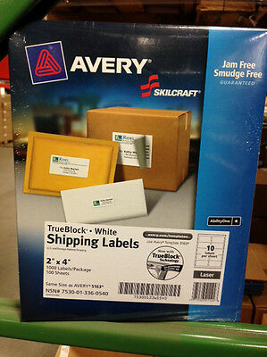 "Avery Easy Peel Shipping Label - 2"" Width X 4"" Length Permanent 1000 / Box"
