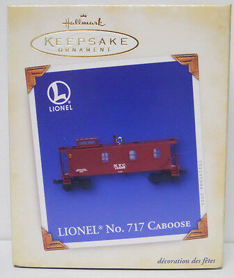 2005 Hallmark Keepsake Ornament Lionel No 717 Caboose-QX2122