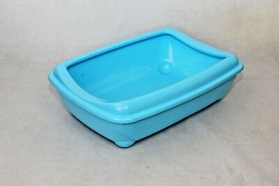 Cat Medium Litter Tray With Rim 42x31x13cm 3 Colours Quality Box Pan Toilet Loo