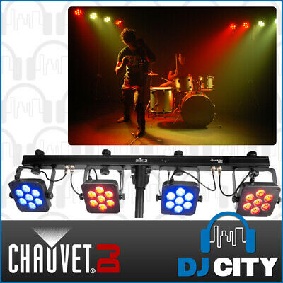 4BARTRI-USB Chauvet DJ Complete Wash Lighting Set w/ Tripod Stand and Carry Bag