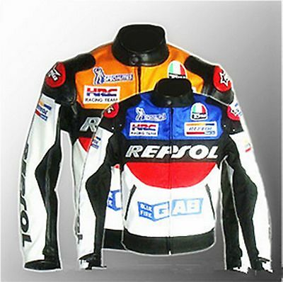 Sale Outdoor  Repsol Honda Motorcycle Jacket Pu Leather