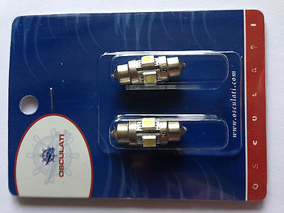 Lot De 2 Navettes A 4 Leds 12V 0.8W Ø 10 X 31 Mm
