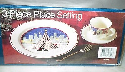 Noritake Twas The Night Before Christmas Dinnerware Set 3 Pc Place Setting Nib & NORITAKE TWAS THE Night Before Christmas Dinnerware Set 3 Pc Place ...