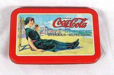 Coca Cola Playing Cards and Collector's Tin 1920's Vintage Lady on Beach