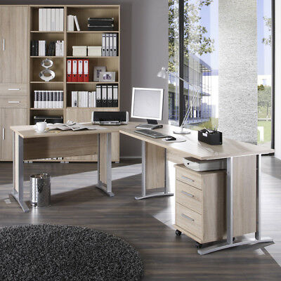 eckschreibtisch officeline winkelschreibtisch pc tisch schreibtisch b ro walnuss eur 248 80. Black Bedroom Furniture Sets. Home Design Ideas