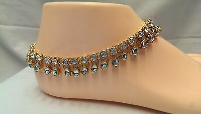Payal Anklet Indian Bollywood Ankle chain diamante kundan anklet gold jewelry