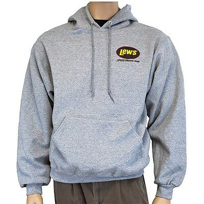 Lews Lew's Gray Hoodie XXL 50%Cotton/50% Polyester Sweatshirt  NEW