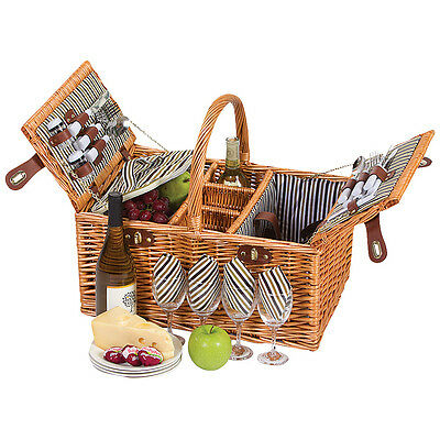Picnic Plus Dilworth 4 Person Picnic Basket - NATURAL Outdoor Accessorie NEW