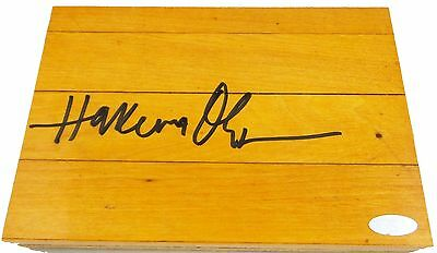 Hakeem Olajuwon Signed Autographed Floor Court Piece Steiner Authenticated