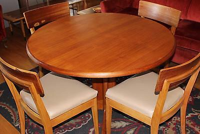 VTG SKOVMAND & ANDERSON Mid Century Modern TEAK TABLE & 4 CHAIRS Set Danish MCM