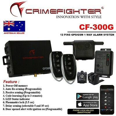 Crime Fighter Cf300G 1Way Car Alarm With Gps Tracking System