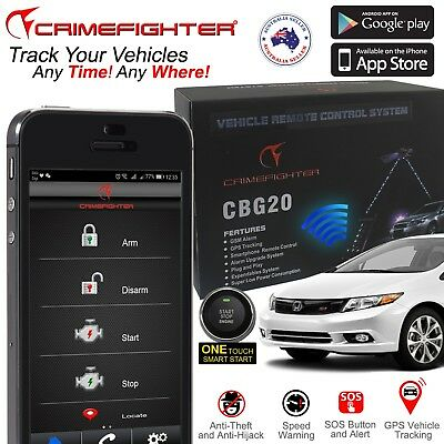 Crimefighter Cbg207 Android & Iphone Smartphone Remote Gps Gsm Car Alarm System
