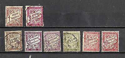 8 timbres anciens FRANCE CHIFFRE TAXE (lot 2)
