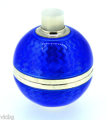 Russian FABERGE Blue Guilloche Enamel Royal Orb Bell Push Guaranteed Authentic