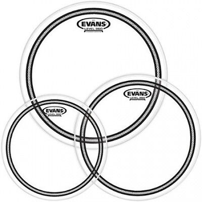 Evans EC2 SST Clear Drumhead Pack Fusion - 10/12/14. Free Shipping