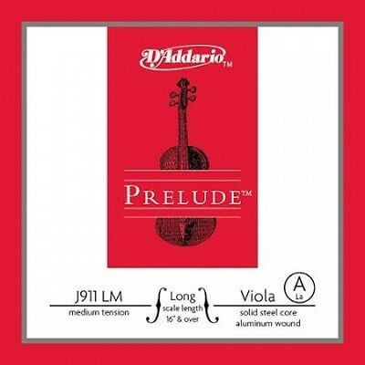 D'Addario Prelude Viola A String Full. Free Shipping