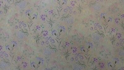 Dolls House Miniatures Wallpaper 1:12th Scale Meadow Flowers DIY301