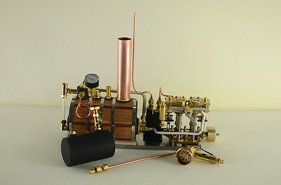 Two-cylinder steam engine Live Steam with Boiler