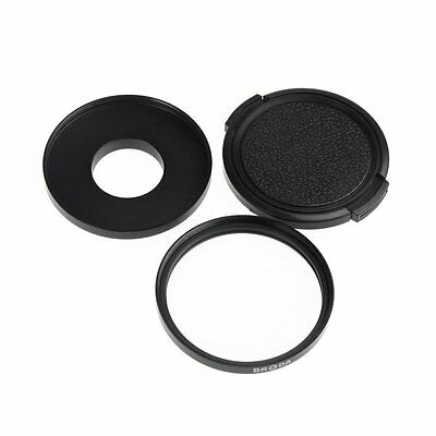 BRODA 52mm Filter Adapter+ Glass UV Lens+Protective Cap for Gopro Hero 3 3+ LWUS