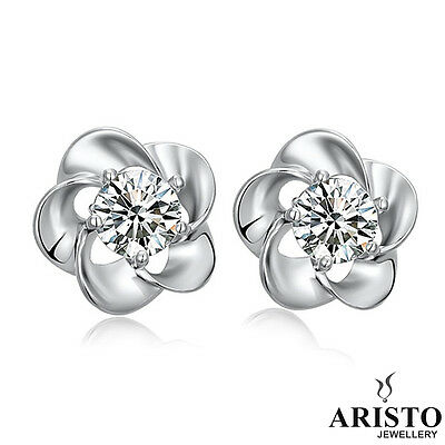 UK 925 Sterling Silver Flower Stud Earrings Jewellery Womens Ladies Gifts New