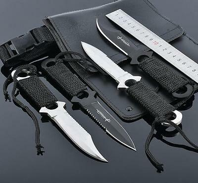 4 X Scuba Diving, Snorkelling, Spearfishing, Hunting Knife Straps and Sheath Set