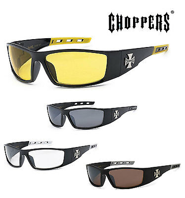 1 PAIR Choppers Mens Riding Biker Motorcycle Day Night Glasses Sunglasses C50