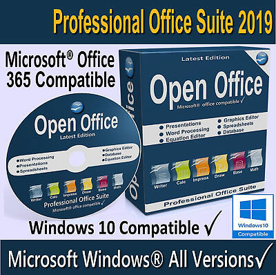OPEN OFFICE 2019 Full Version Home, Student, Business - For Windows 10, 8, 7
