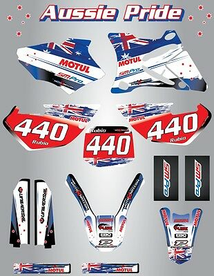 Full  Custom Graphic  Kit -AUSSIE PRIDE - YZ  85 -  2001 - 2014 stickers / decal
