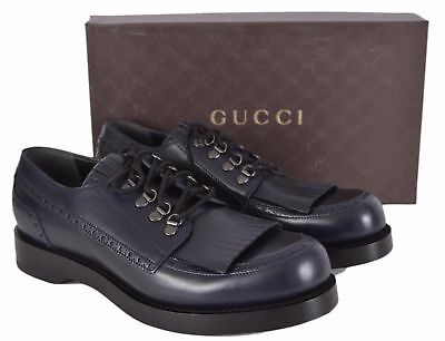 a0ef2c4f496  850 Gucci Men s Leather Fringe Casual Oxfords Shoes 358271 size 11 extra  laces