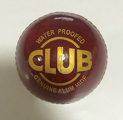 DSC Club 4 Piece Red Cricket Leather Ball 1/2/3/6/12 + AU Stock + Free Delivery
