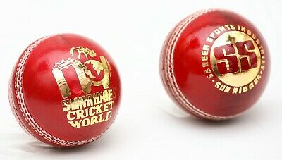SS TON 4 Piece Yorker Cricket Red Leather Ball 1/2/3/6/12 + AU Stock + Free Ship