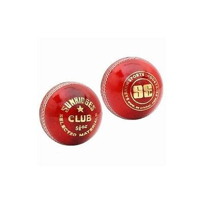 SS TON Club 4 Piece Cricket Red Leather Ball 1/2/3/6/12 +AU Stock +Free Delivery