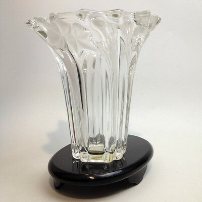 Vintage MIKASA Crystal VASE Frosted Detailing GERMANY