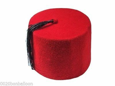 Adult Red Fez Tarboush Turkish Ottoman Hat Black Tassel large traditional  215 737fb5ec7e10
