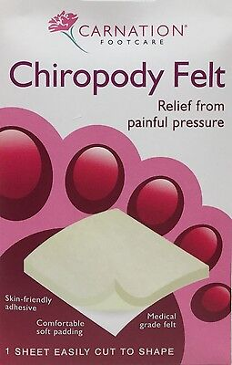 2x Carnation Chiropody Felt One Sheet Easily Cut to Shape