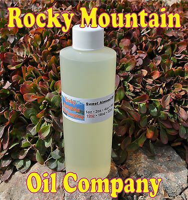 Sweet Almond Oil Organic Carrier Cold Pressed Refined 100% Pure 12 Oz