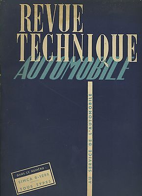 (C5)Revue Technique Automobile Simca 8-1200 Tous Types