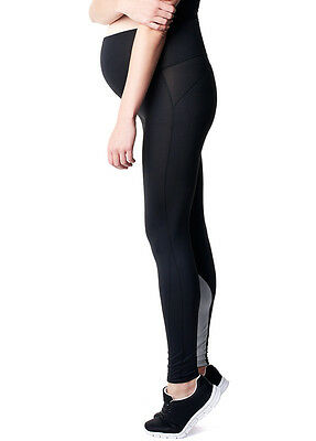 New - Noppies - Zana Active Legging in Black/Grey - Maternity Wear