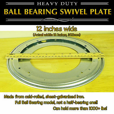 1 pc - 12 inch (305mm) - Full Ball Bearing Swivel Plate Lazy Susan Turntable