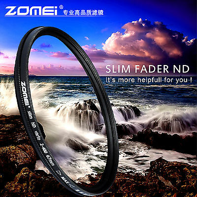 Zomei 67mm Neutral Density Fader Adjustable Variable ND Filter ND2,ND4,ND8-400