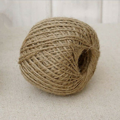 30Mtrs 2 Ply Natural Brown Jute Hessian Burlap Twine Sisal Rustic String Cord