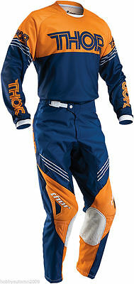 Completo Thor Phase Hyperion Navy Orange  Taglia 30/46  E 2Xl Cross Enduro
