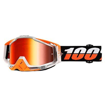 100% Occhiale The Racecraft Ultrasonic Mirror Red Lens Cross Enduro