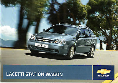 Chevrolet Lacetti Station Wagon 2008-09 UK Market Sales Brochure 1.6 1.8 SX