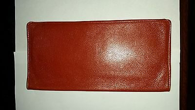 Mens Calf Leather Travel Slim Passport Holder Sleeve and Wallet Color Tan