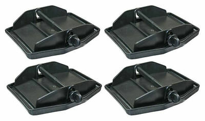 Set of 4 caravan corner steadies jack pads for stabilizing levelling caravan